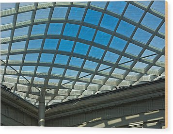 Kogod Courtyard Ceiling #3 Wood Print