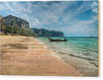 Koh Lanta Beach Wood Print by Adrian Evans