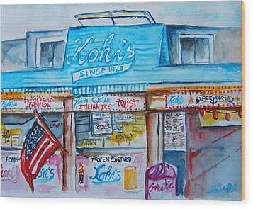 Kohrs Frozen Custard Wood Print