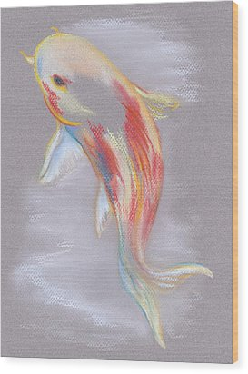 Wood Print featuring the pastel Koi Fish Swimming by MM Anderson