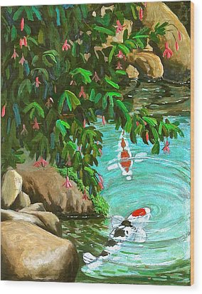 Koi Kingdom Wood Print