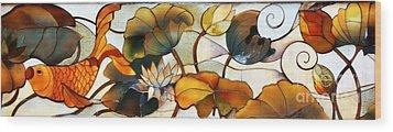 Koi Wood Print by Lisa L Silva