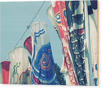 Koinobori Flags Wood Print