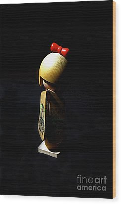 Wood Print featuring the photograph Kokeshi by Lawrence Burry