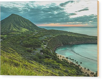 Koko Head Crater And Hanauma Bay 1 Wood Print