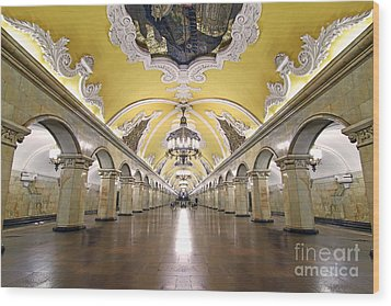Komsomolskaya Station In Moscow Wood Print by Lars Ruecker