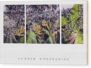 Kona Garden Wood Print by Andrew Drozdowicz