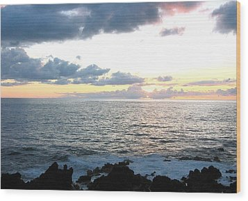 Wood Print featuring the photograph Kona  North by Angela J Wright