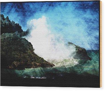 Kona Sea Wood Print by Athala Carole Bruckner