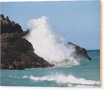 Kona Wave Wood Print by Athala Carole Bruckner