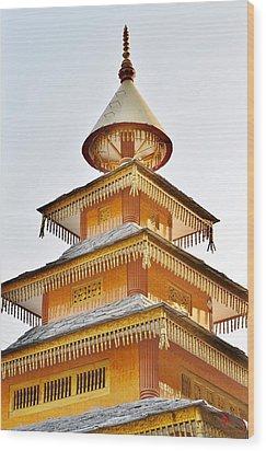 Kondar Devata Temple Wood Print by Kim Bemis
