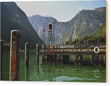 Konigssee Germany Wood Print by Marty  Cobcroft