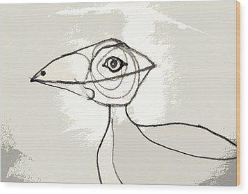Koo-koo Bird Wood Print