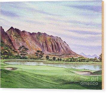 Koolau Golf Course Hawaii 16th Hole Wood Print