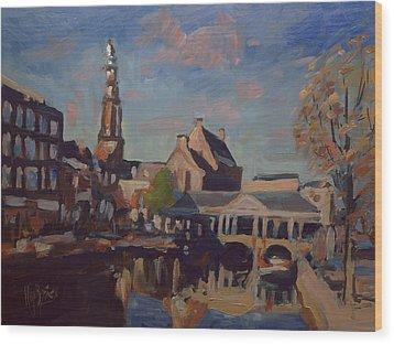 Koorn Bridge Leiden Wood Print by Nop Briex