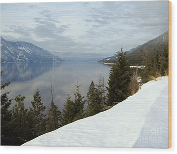 Kootenay Paradise Wood Print by Leone Lund