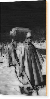 Korean Memorial Wood Print by Skip Willits