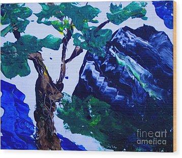 Korean Mountain Wood Print by Jayne Kerr