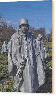 Korean War Memorial Wood Print