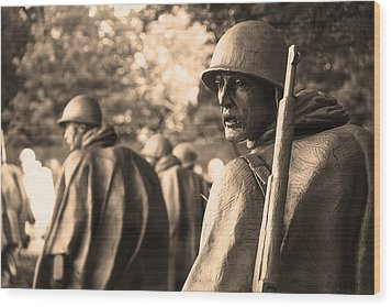 Korean War Soldier Wood Print