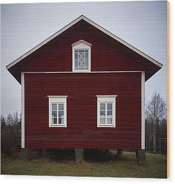 Kovero Main House Wood Print by Jouko Lehto