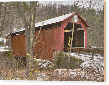 Krickbaum Bridge  Wood Print