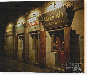 Kroke - Kazimierz - Krakow - Gesher Galicia - Shalom. .the Jewish Life In Krakow. Viewed 224 Times  Wood Print by  Andrzej Goszcz