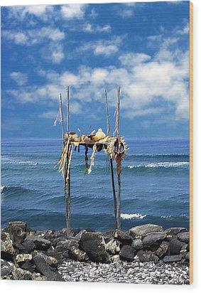 Ku Emanu Heiau Kona Wood Print by Kurt Van Wagner