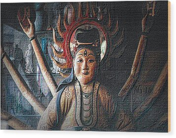 Kuan Yin Wood Print
