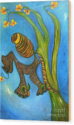 Kula And Pani's Ghost Wood Print by Mukta Gupta