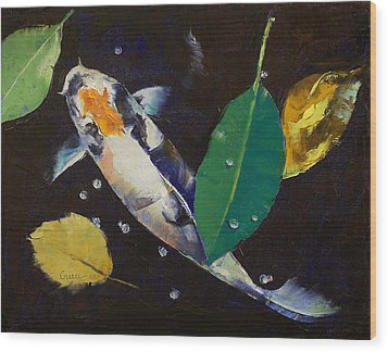 Kumonryu Koi Art Wood Print by Michael Creese