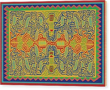 Kuna Bird Spirits Wood Print by Vagabond Folk Art - Virginia Vivier