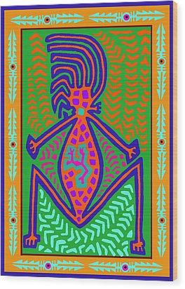 Kuna Indian Mother Earth Wood Print by Vagabond Folk Art - Virginia Vivier