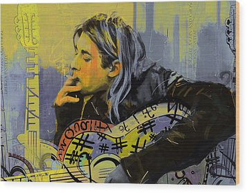 Kurt Cobain Wood Print by Corporate Art Task Force