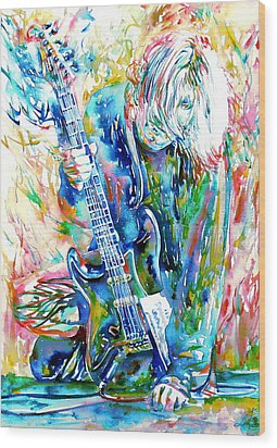 Kurt Cobain Portrait.1 Wood Print