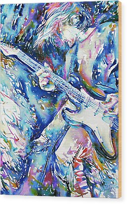 Kurt Cobain Portrait.3 Wood Print by Fabrizio Cassetta