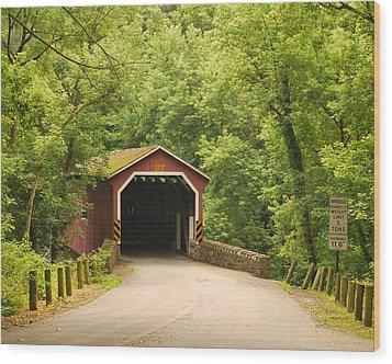 Wood Print featuring the photograph Kurtz Bridge In July by Bob Sample