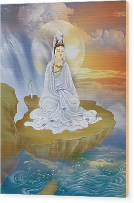 Wood Print featuring the photograph Kwan Yin - Goddess Of Compassion by Lanjee Chee