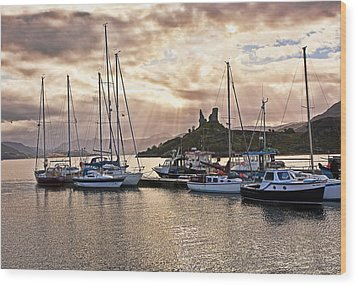 Kyleakin Harbor And Castle Moil Wood Print by Marcia Colelli