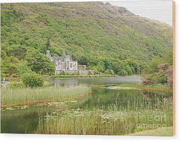 Wood Print featuring the photograph Kylemore Abbey 1 by Mary Carol Story