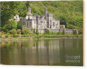 Wood Print featuring the photograph Kylemore Abbey 2 by Mary Carol Story