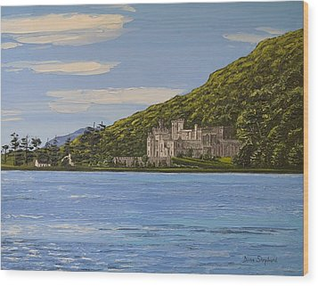 Kylemore Abbey Connemara Co Galway Wood Print by Diana Shephard