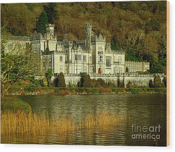 Kylemore Abbey On A Golden Afternoon Wood Print