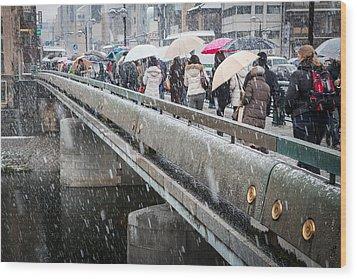 Kyoto Bridge Wood Print