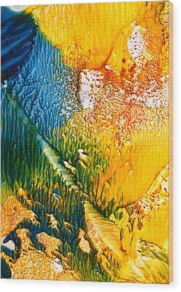L' Intrus Wood Print by Anne-Marie Coadebez