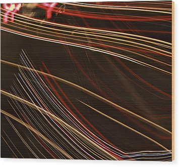 La-405 Lines Wood Print