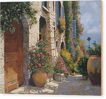 La Bella Strada Wood Print by Guido Borelli