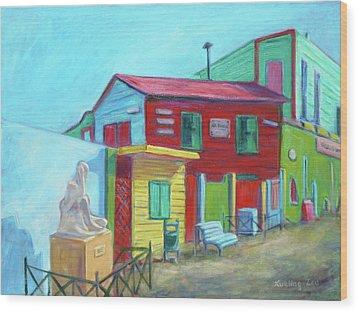 La Boca Morning I Wood Print by Xueling Zou