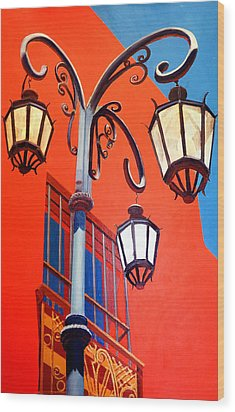 La Boca Street Lamps #21 Wood Print