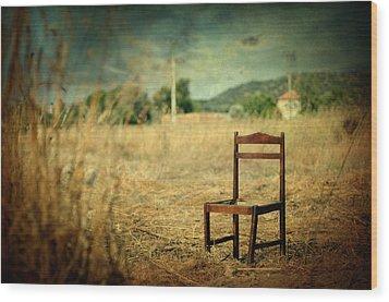 La Chaise Wood Print by Taylan Apukovska